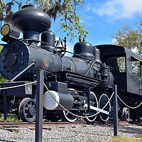 Historic Steam Engine at Manatee Village in Bradenton, Florida<br />