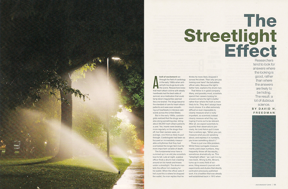Discover: The Streetlight Effect (July/August 2010)