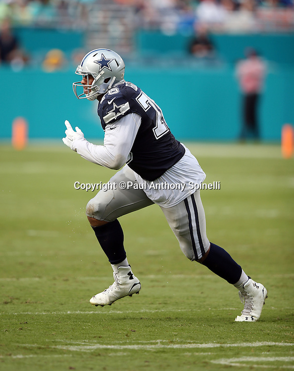 Dallas Cowboys defensive end Greg Hardy (76) chases the action during the 2015 week 11 regular season NFL football game against the Miami Dolphins on Sunday, Nov. 22, 2015 in Miami Gardens, Fla. The Cowboys won the game 24-14. (©Paul Anthony Spinelli)