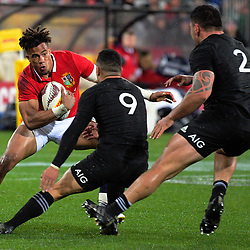 Anthony Watson in action during the 2017 DHL Lions Series 2nd test rugby match between the NZ All Blacks and British & Irish Lions at Westpac Stadium in Wellington, New Zealand on Saturday, 1 July 2017. Photo: Dave Lintott / lintottphoto.co.nz
