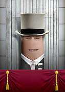 """These royal portraits created by the finger artist DITO VON TEASE<br />known as """"il Dito"""", thatÕs Italian for Òthe FingerÓ. a funny invitation to people to be curious about the complex mystery of personal identities ...  <br /><br />Photo shows: Prince Philip<br />©Exclusivepix Media"""