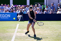 Canada's Eugenie Bouchard in action against Czech Republic's Barbora Strycova during day four of the AEGON International at Devonshire Park, Eastbourne.