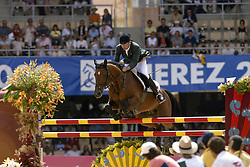 Lennon Dermott (IRL)  - Dollar Du Murier HTS De Seine<br /> Jumping final<br /> World Equestrian Games Jerez de la Fronteira 2002<br /> Photo © Dirk Caremans