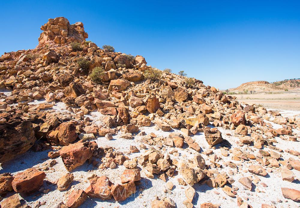 Dry rocky landscape near Winton, Queensland, Australia
