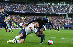 Toby Alderweireld of Tottenham Hotspur and Christian Kabasele of Watford tussle for the ball in the box - Mandatory by-line: Arron Gent/JMP - 19/10/2019 - FOOTBALL - Tottenham Hotspur Stadium - London, England - Tottenham Hotspur v Watford - Premier League