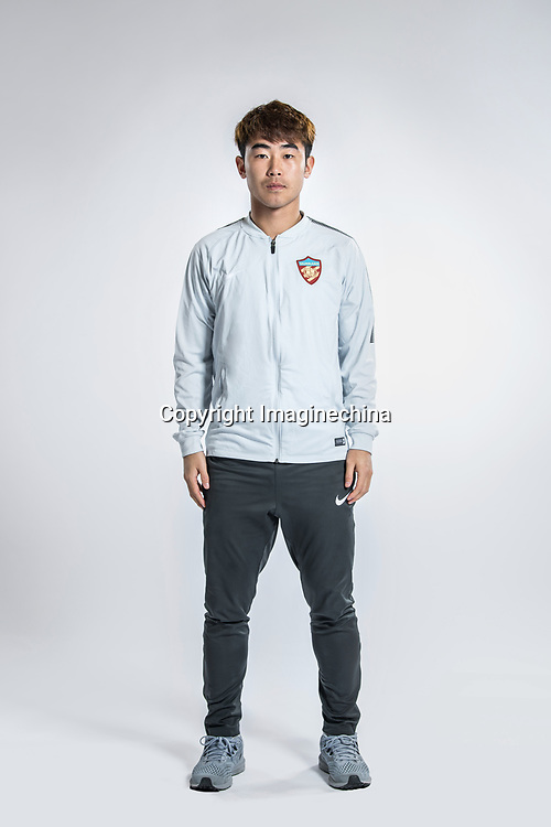 **EXCLUSIVE**Portrait of Chinese soccer player Zheng Dalun of Tianjin Quanjian F.C. for the 2018 Chinese Football Association Super League, in Yancheng city, east China's Jiangsu province, 9 February 2018.