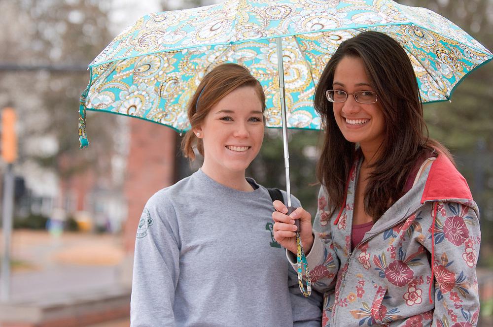 18619Spring campus ..Kate Testa and Melissa Reihle(gray)