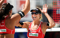 Volleyball Sandvolleyball Beachvolleyball<br />Swatch FIVB World Tour Conoco Phillips Grand Slam<br />Stavanger 270608<br />Foto: Sigbjørn Andreas Hofsmo, Digitalsport<br /><br />Nila Håkedal Haakedal Hakedal - Ingrid Tørlen Torlen