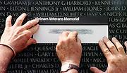 Memorial Day at the Vietnam War Memorial