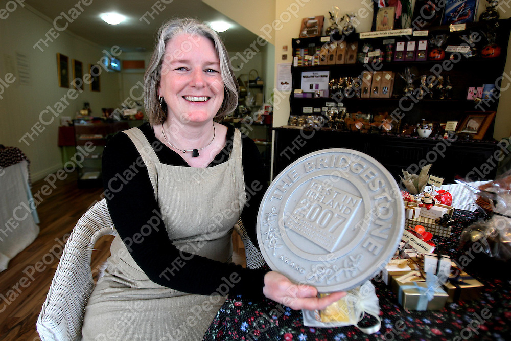 Grainne McCormick of Chocolat Barrack Street which won the Bridgestone Best in Ireland 2007 award.<br />
