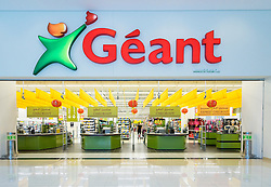 French supermarket chain Geant store at Dragon Mart 2 Chinese themed shopping mall in Dubai, United Arab Emirates