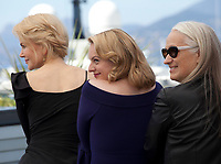 Nicole Kidman, Elisabeth Moss and  director Jane Campion at the Top Of The Lake: China Girl photo call at the 70th Cannes Film Festival Tuesday 23rd May 2017, Cannes, France. Photo credit: Doreen Kennedy