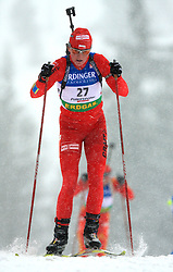 Magdalena Gwizdon (POL) at Women 15 km Individual at E.ON Ruhrgas IBU World Cup Biathlon in Hochfilzen (replacement Pokljuka), on December 18, 2008, in Hochfilzen, Austria. (Photo by Vid Ponikvar / Sportida)