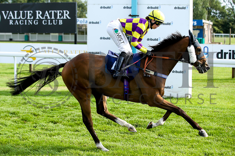 """Contingency Fee ridden by Grace McEntee trained by Phil McEntee in the """"""""Hands and Heels"""""""" Apprentice Handicap- Mandatory by-line: Robbie Stephenson/JMP - 27/08/2019 - PR - Bath Racecourse - Bath, England - Race Meeting at Bath Racecourse"""