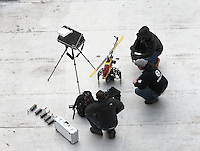 """KPOP band BIGBANG shoots a video for their song """"Blue M/V"""" in Brooklyn, NY March 2012."""