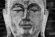 Buddhist statues at Wat Yai Chai-mongkol. Ayuthaya.