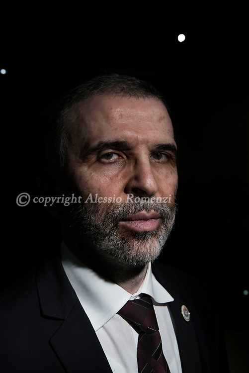 Libya, Tripoli: NOC (National Oil Company) chairman of the board of directors Mustafa Sanalla poses for a portrait outside his office in Tripoli. Alessio Romenzi