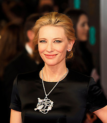Cate Blanchett as she arrives at the BAFTA Film Awards. London, United Kingdom. Sunday, 16th February 2014. Picture by Max Nash / i-Images