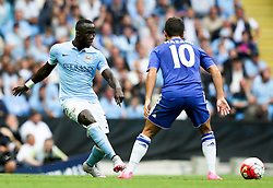 Bacary Sagna of Manchester City and Eden Hazard of Chelsea  - Mandatory byline: Matt McNulty/JMP - 07966386802 - 16/08/2015 - FOOTBALL - The Etihad Stadium -Manchester,England - Manchester City v Chelsea - Barclays Premier League