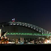 High resolution panorama of Sydney city skyline overlooking Sydney Harbour