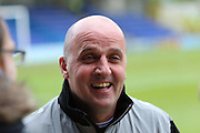 Portsmouth Manager Paul Cook prior the Sky Bet League 2 match between AFC Wimbledon and Portsmouth at the Cherry Red Records Stadium, Kingston, England on 26 April 2016. Photo by Stuart Butcher.