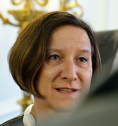 20.03.2012, Bundeskanzleramt, Wien, AUT, Bundesregierung, Sitzung des Ministerrats, im Bild  Bundesministerin fuer Inneres Mag. Johanna Mikl-Leitner ÖVP // Home Secretary Mag. Johanna Mikl-Leitner OEVP before the council of ministers, Chancellors office, Vienna, Austria on 2012/03/20, EXPA Pictures © 2012, PhotoCredit: EXPA/ M. Gruber