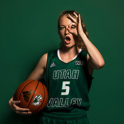 Women's Basketball Promo shots in the studio on the campus of Utah Valley University in Orem, Utah on Monday Sept. 11, 2017. (August Miller, UVU Marketing)
