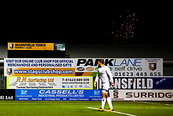 Fireworks explode outside the One Call Stadium, home to Mansfield Town - Mandatory by-line: Ryan Crockett/JMP - 06/11/2018 - FOOTBALL - One Call Stadium - Mansfield, England - Mansfield Town v Grimsby Town - Sky Bet League Two