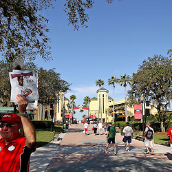 March 16, 2011; Lake Buena Vista, FL, USA; A general view before a spring training exhibition game between the Boston Red Sox and the Atlanta Braves at the Disney Wide World of Sports complex.  Mandatory Credit: Derick E. Hingle