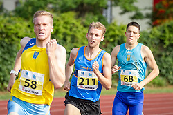 Vid Kramer, Zan Rudolf and Jan Vukovic compete during day 2 of Slovenian Athletics Cup 2019, on June 16, 2019 in Celje, Slovenia. Photo by Peter Kastelic / Sportida