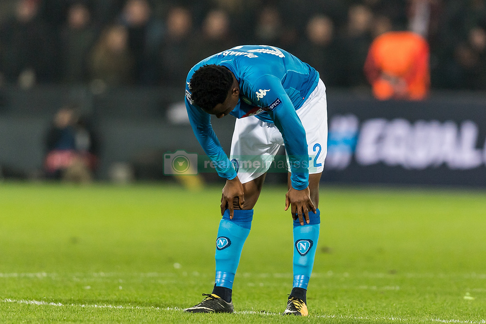 Amadou Diawara of SSC Napoli during the UEFA Champions League group F match between Feyenoord Rotterdam and SSC Napoli at the Kuip on December 06, 2017 in Rotterdam, The Netherlands