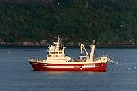 Fiskeb&aring;ten Roaldnes i Ellings&oslash;yfjorden.<br /> Foto: Svein Ove Ekornesv&aring;g