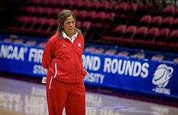 March 19, 2010; Stanford, CA, USA;  Rutgers Scarlet Knights head coach C. Vivian Stringer before the first round game of the 2010 NCAA Womens Division I Championship at Maples Pavilion.