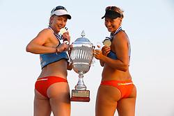 20140607 ITA: EK Beachvolleybal, Cagliari<br /> Marleen van Iersel en Madelein Meppelink winnen goud op het EK 2014, Cheaptickets.nl<br /> ©2014-FotoHoogendoorn.nl / Pim Waslander