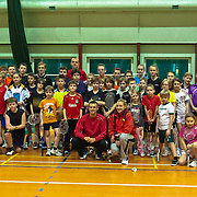 Badminton. Trening młodzieży z zawodnikami i trenerami kadry narodowej