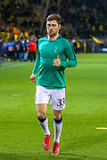 Tottenham Hotspur defender Ben Davies (33) warms up ahead of the Champions League round of 16, leg 2 of 2 match between Borussia Dortmund and Tottenham Hotspur at Signal Iduna Park, Dortmund, Germany on 5 March 2019.