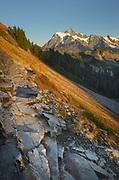 Mount Shuksan seen from Ptarmigan Ridge Trail. North Cascades  Washington