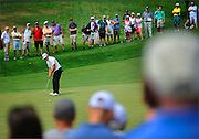 Charlie Hoffman putts on the seventh hole during the first round of the Barclays Championship held at Plainfield Country Club in Edison, New Jersey on August 27.