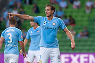 MELBOURNE, VIC - JANUARY 22: Melbourne City midfielder Rostyn Griffiths (7) gestures at the Hyundai A-League Round 15 soccer match between Melbourne City FC and Western Sydney Wanderers at AAMI Park in VIC, Australia 22 January 2019. Image by (Speed Media/Icon Sportswire)
