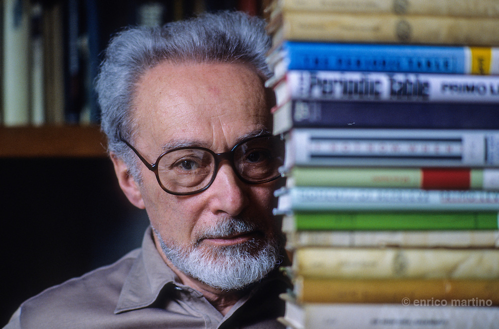 The writer Primo Levi at home in Turin.