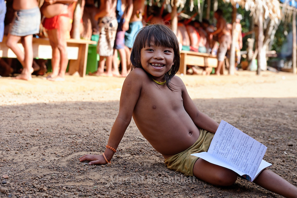 Yanomami have their own schools and transcripted their language in latin alphabet.