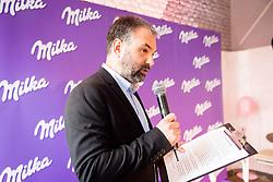 Ales Smrekar during Milka press conference, on October 3, 2017 in Lolita Cake Shop, Ljubljana, Slovenia. Photo by Vid Ponikvar / Sportida