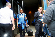 Bradford City FC players arrive on the coach during the EFL Sky Bet League 1 match between Gillingham and Bradford City at the MEMS Priestfield Stadium, Gillingham, England on 12 August 2017. Photo by Andy Walter.