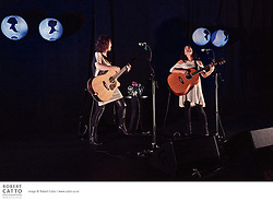 Anna Coddington and Julia Deans perform at the Paramount Theatre, Wellington as part of their Keepsakes tour.