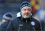Keith Hill during the Sky Bet League 1 match between Rochdale and Burton Albion at Spotland, Rochdale, England on 30 January 2016. Photo by Daniel Youngs.