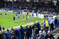 A general view of the Memorial Stadium as Bristol Rovers players warm up - Mandatory by-line: Dougie Allward/JMP - 14/04/2018 - FOOTBALL - Memorial Stadium - Bristol, England - Bristol Rovers v Blackburn Rovers - Sky Bet League One