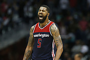 ATLANTA, GA - APRIL 28:  Forward Markieff Morris #5 of the Washington Wizards celebrates during Game Six of the Eastern Conference Quarterfinals against the Atlanta Hawks at Philips Arena on April 28, 2017 in Atlanta, Georgia.  (Photo by Mike Zarrilli/Getty Images)