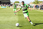 Forest Green Rovers Reuben Reid(26) on the ball during the EFL Sky Bet League 2 match between Forest Green Rovers and Exeter City at the New Lawn, Forest Green, United Kingdom on 4 May 2019.