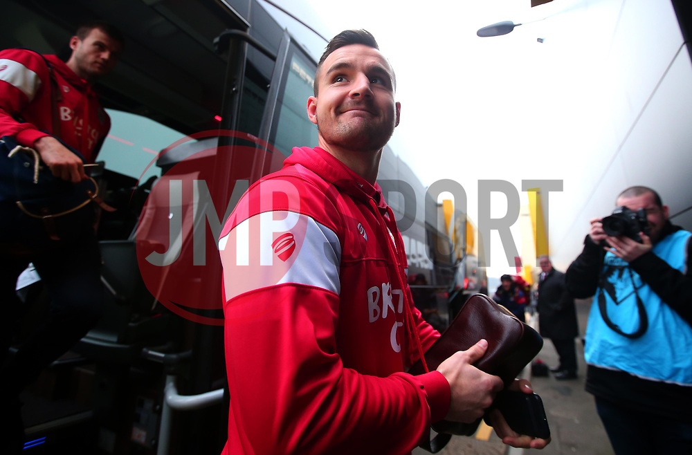 Bailey Wright of Bristol City arrives at Vicarage Road for the FA Cup tie against Watford - Mandatory by-line: Robbie Stephenson/JMP - 06/01/2018 - FOOTBALL - Vicarage Road - Watford, England - Watford v Bristol City - Emirates FA Cup third round proper