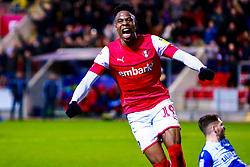 Chiedozie Ogbene of Rotherham United celebrates his goal - Mandatory by-line: Ryan Crockett/JMP - 18/01/2020 - FOOTBALL - Aesseal New York Stadium - Rotherham, England - Rotherham United v Bristol Rovers - Sky Bet League One